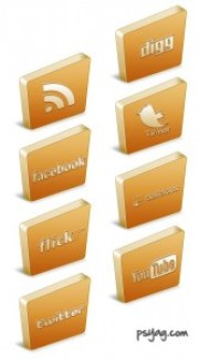 3D social icons in Photoshop
