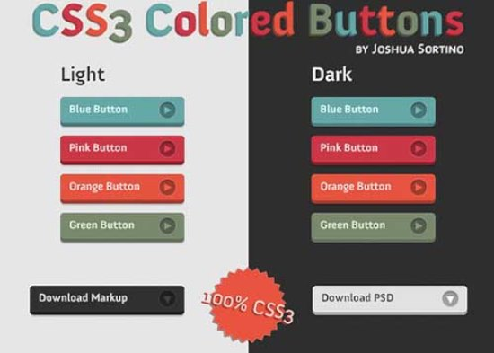 Colored Buttons in CSS3