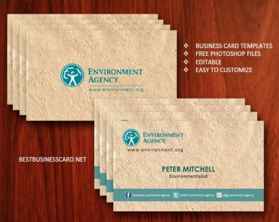 Free Eco-Friendly Business Card Template