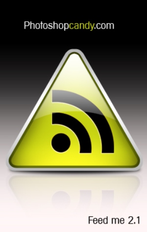 Glassy & Vibrant Rss feed icon Tutorial