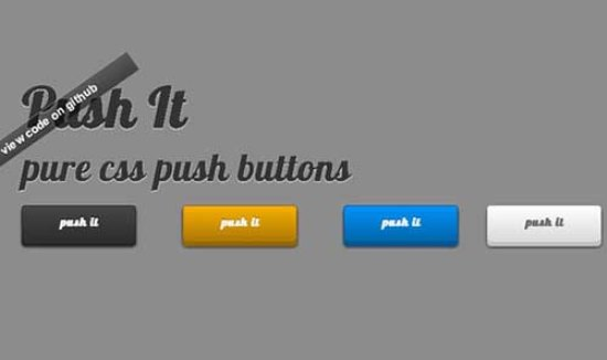 Push it CSS3 Buttons