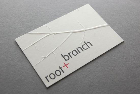 root + branch business card design