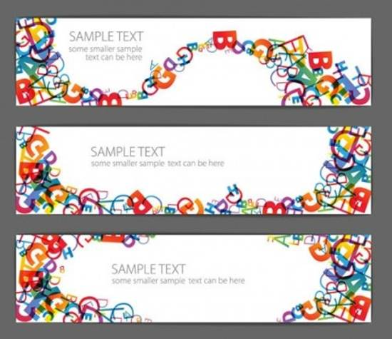 free beautiful letter banner