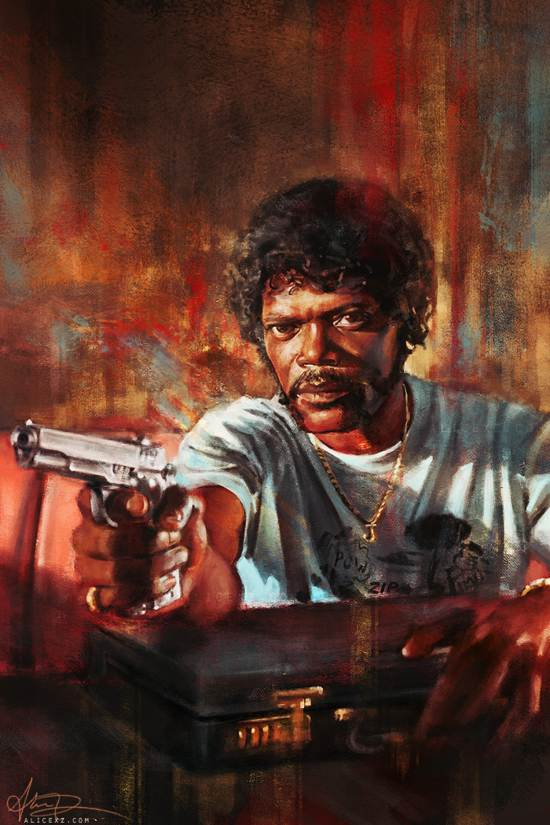 pulp fiction drawing and painting