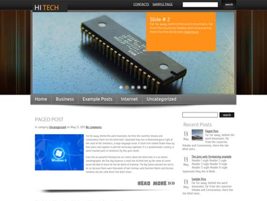 free hitech wordpress theme