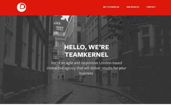kernel interactive website design
