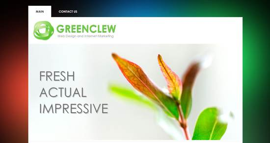 green clew web template
