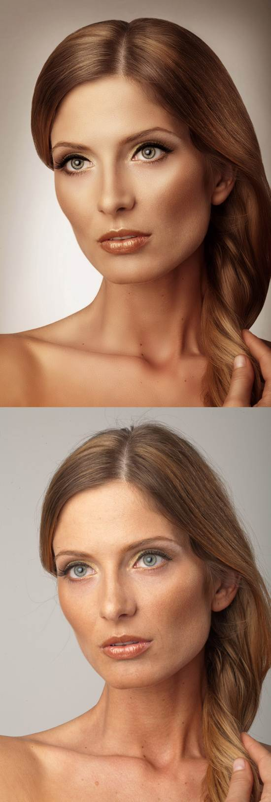 after and before photo retouching