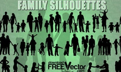 Free Vector Of Family Silhouettes