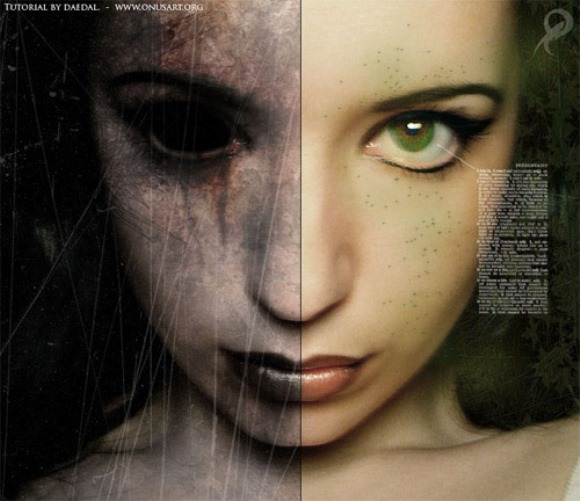 Good and Evil Photo Effect