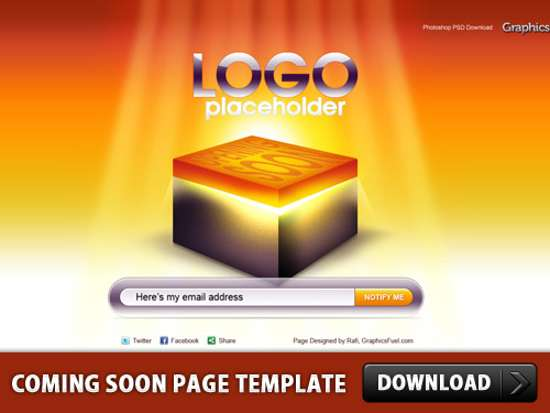 Coming Soon Page Template PSD designs