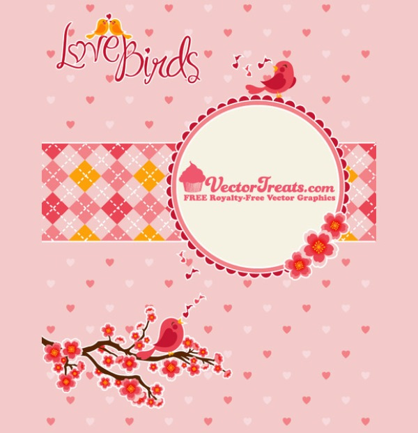 Valentines Day Vector Love Birds