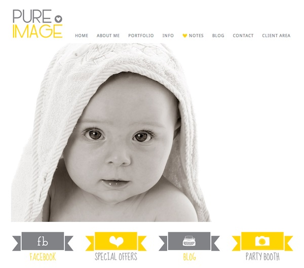 pureimage photography portfolio websites