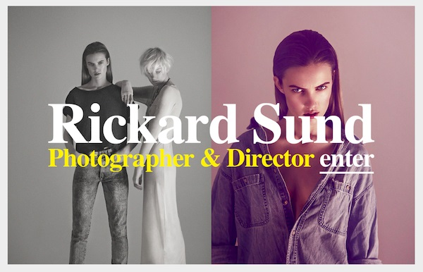 rickardsund photography portfolio websites