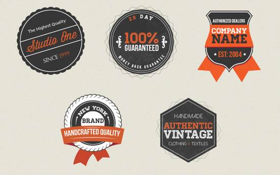 Vintage Badges psd