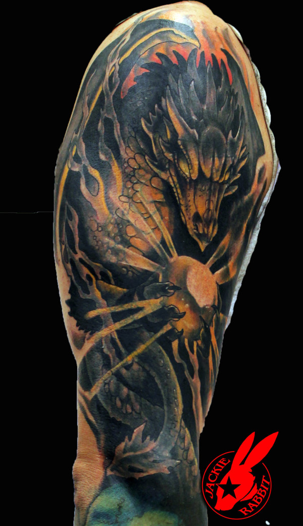 Mystical Dragon sleeve Tattoo