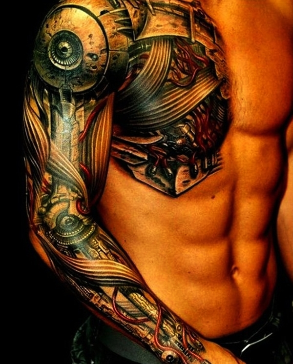 Bio-mechanical Tattoo Designs Examples (1)