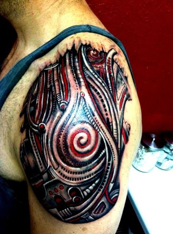 Bio-mechanical Tattoo Designs Examples (11)