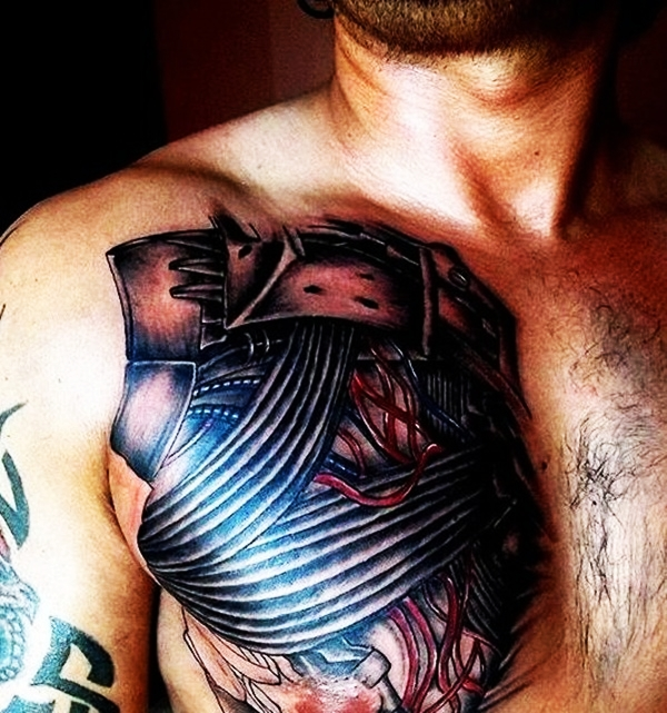 Bio-mechanical Tattoo Designs Examples (21)