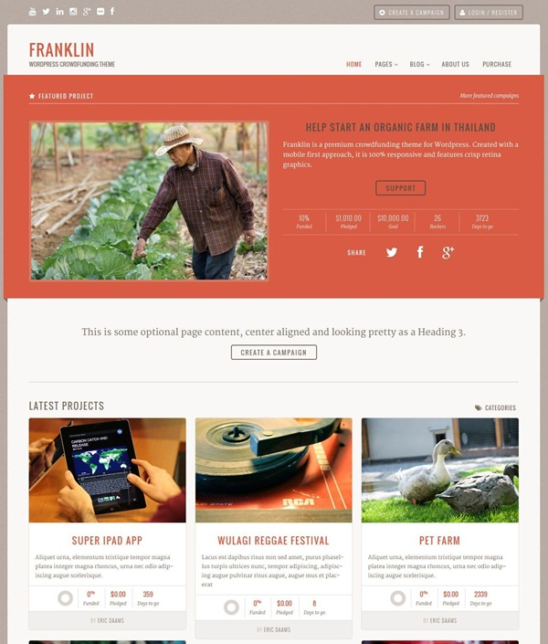 Crowd Funding WordPress Themes of the Year12