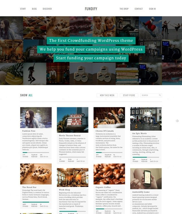Crowd Funding WordPress Themes of the Year3