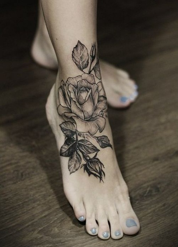 Attractive and Sexy Rose Tattoo Designs12