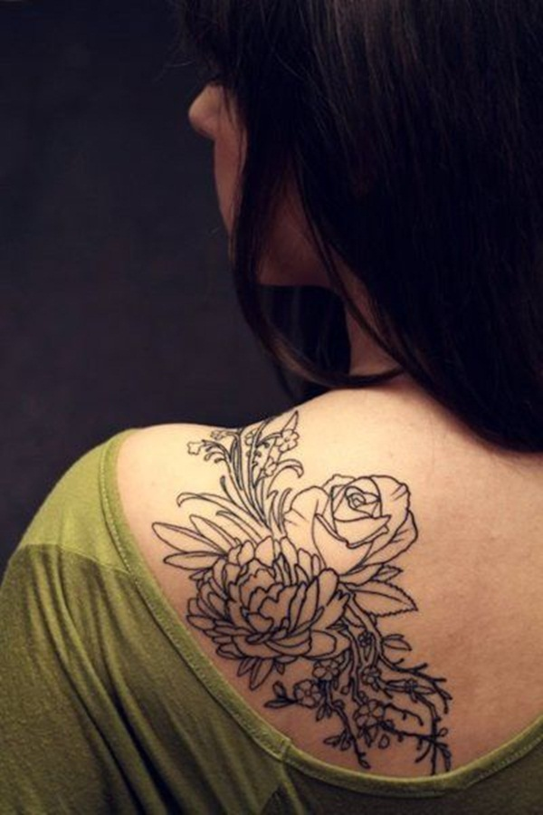Attractive and Sexy Rose Tattoo Designs19