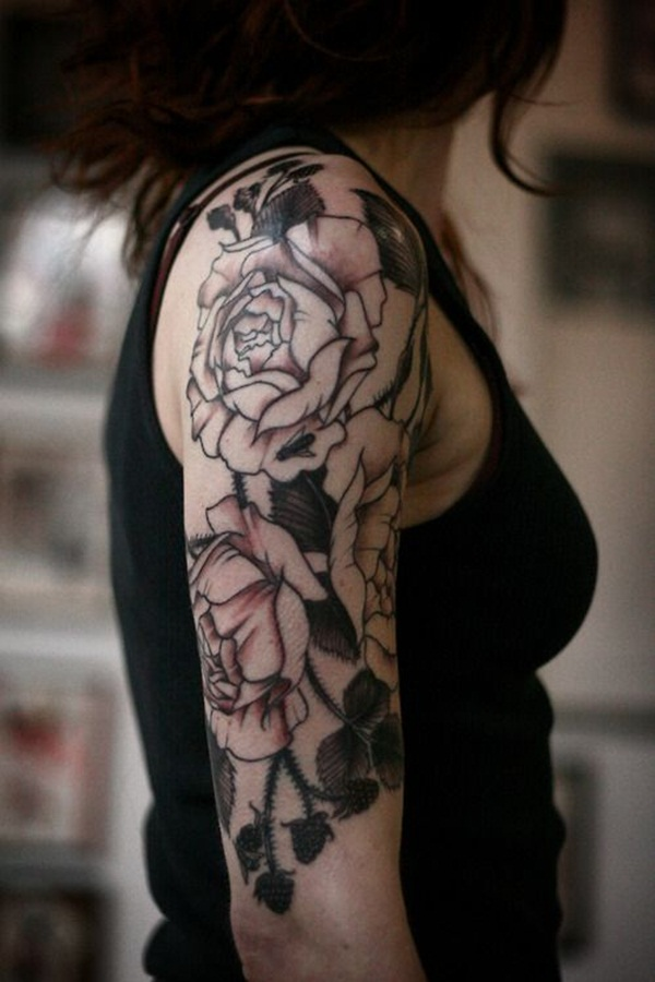 Attractive and Sexy Rose Tattoo Designs28