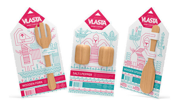 Vlasta Kitchenware Product Packaging Designs