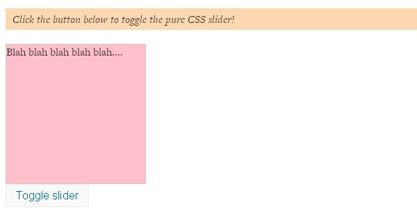 Pure CSS Slide Up and Slide Down