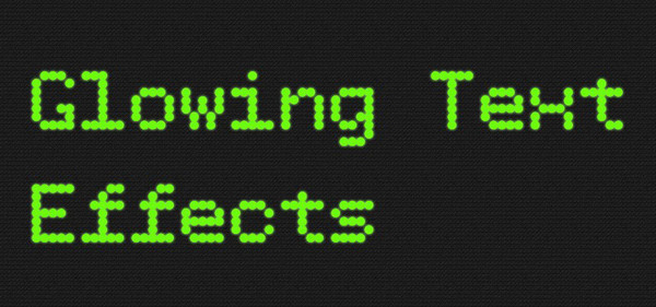 CSS3 Tutorial – Glowing Text Effects