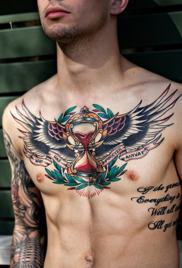 Catchy Chest Tattoo Designs for Men and Women (18)