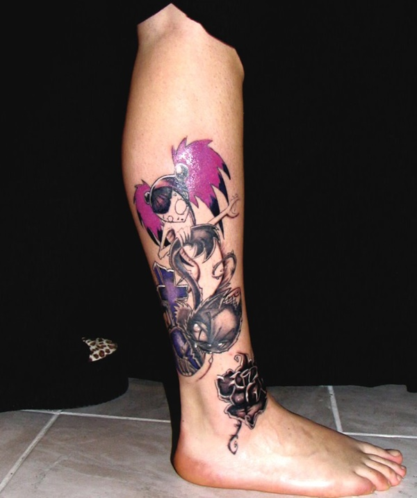 Tattoo For Woman On The Leg