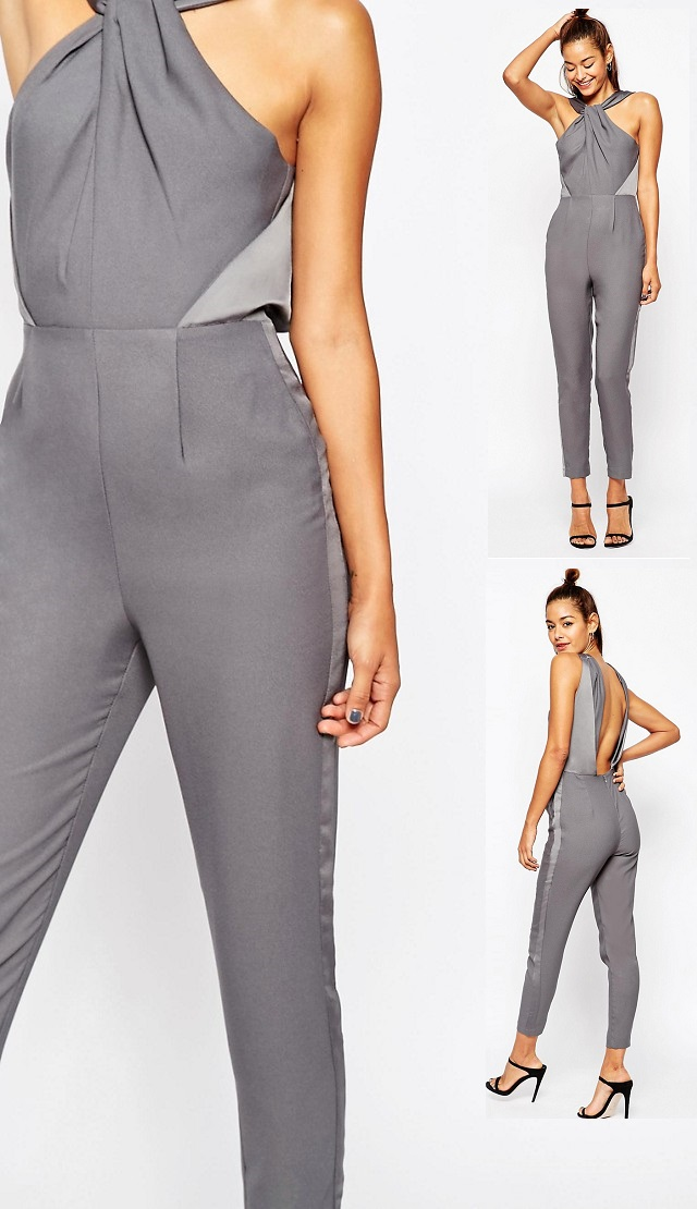 ASOS Jumpsuit with Twisted Knot Detail3