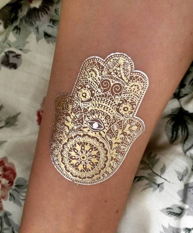 Cute and Tiny glittery and white Temp Tats for Girls 1.13