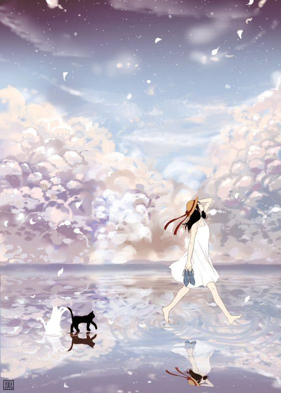 beautiful-anime-water-reflection-wallpaper