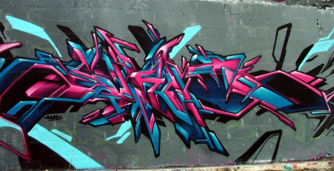WIldstyle graffiti painting