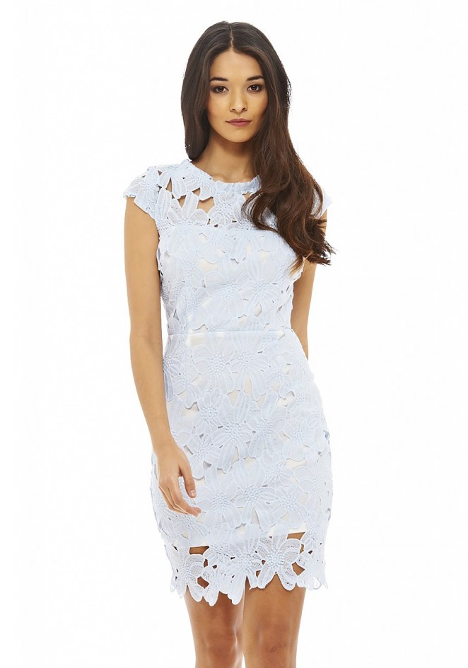 AX Paris V Neck Lace Midi Dress01