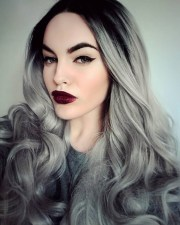 women grey blue hair color trends