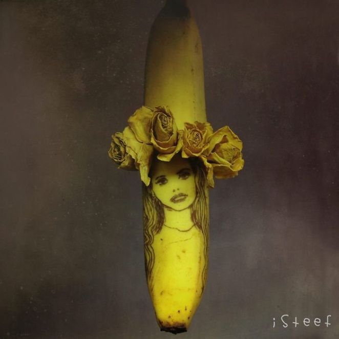 banana drawings fruit art stephan brusche
