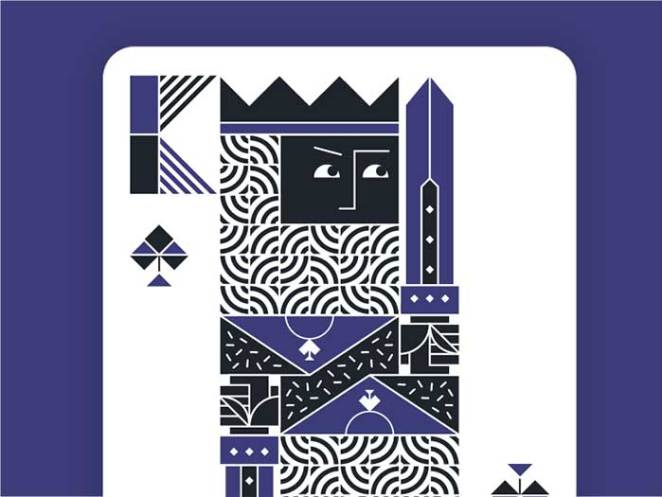 king_spades_dribbble_2 Face Cards: The Intricate Playing Card Designs