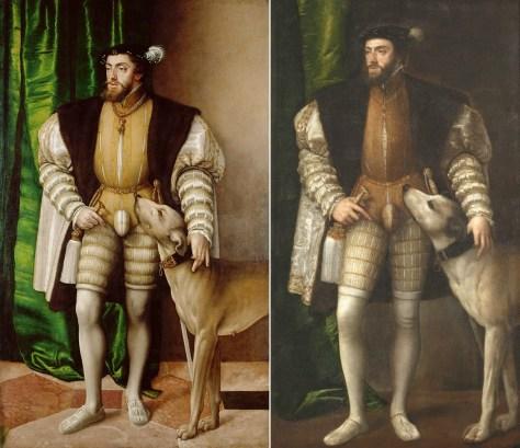 Carlos V con perro