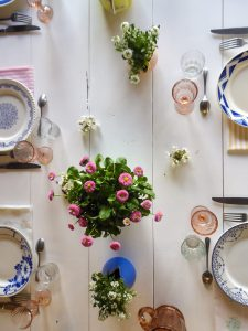 inspiration chemin de table mariage champêtre