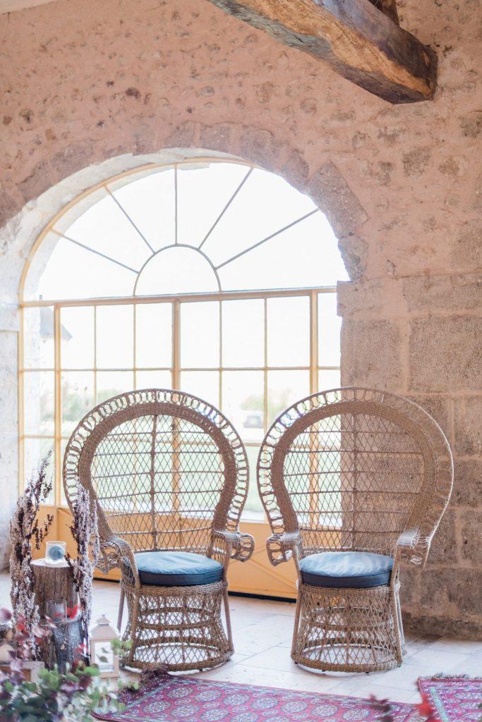 fauteuils Emmanuelle pour mariage dans l'Yonne et Loiret
