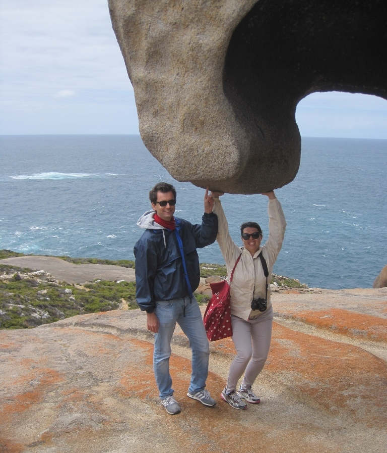 Us at Remarkable Rocks, Kangaroo island (Photo credit: http://www.lavaleandherworld.wordpress.com)