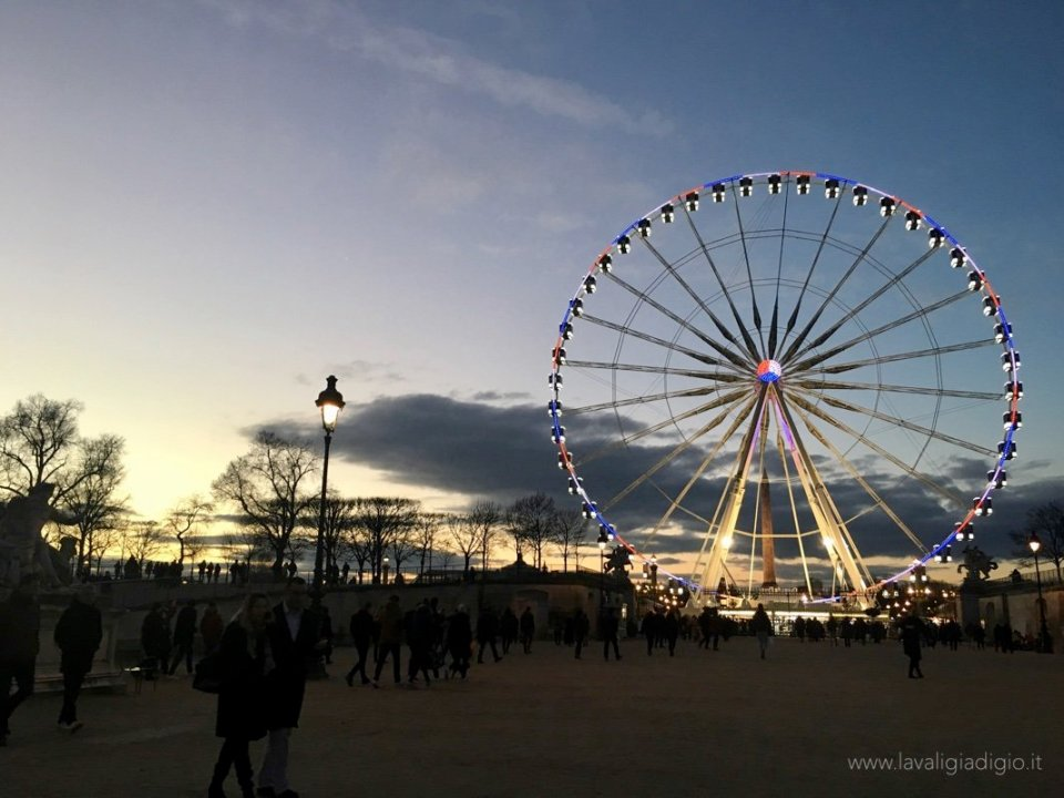 Ruota panoramica di parigi giardino
