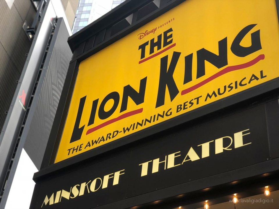 itinerario New York the lion king