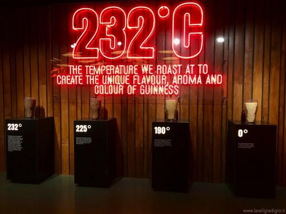 visita guinness storehouse Dublino - temperatura 232°