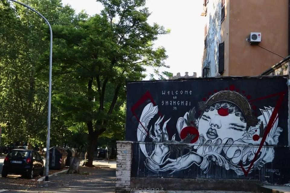 murales di Tor marancia welcome to Shanghai