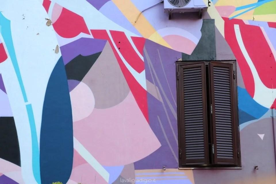 murales di Tor marancia cascata di parole